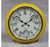 "Wall clock Yellow ""London"""