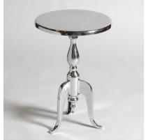 Round pedestal table aluminum
