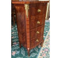Pequeño armario con 4 cajones, rose-madera