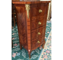 Small wardrobe with 4 drawers, rose-wood