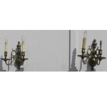 Paar wandleuchten mit 2 lichter in
