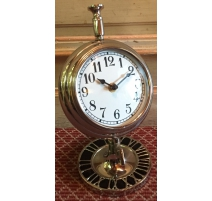 Clock desktop round aluminum
