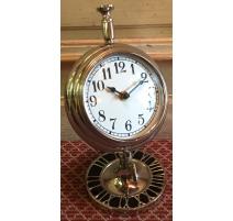 Reloj de escritorio de aluminio redondo