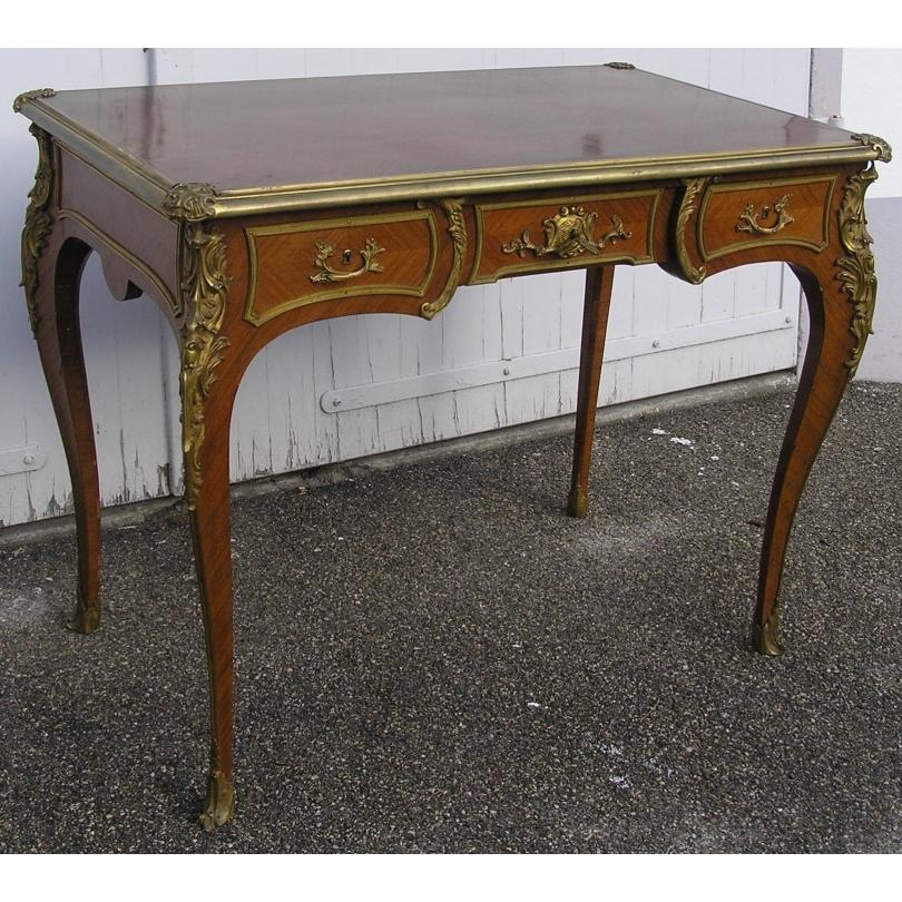 Bureau style Louis XV double face avec