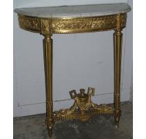 Console demi-lune Louis XVI, en bois