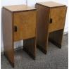 Paire de Tables de Chevets Art Déco, en placage