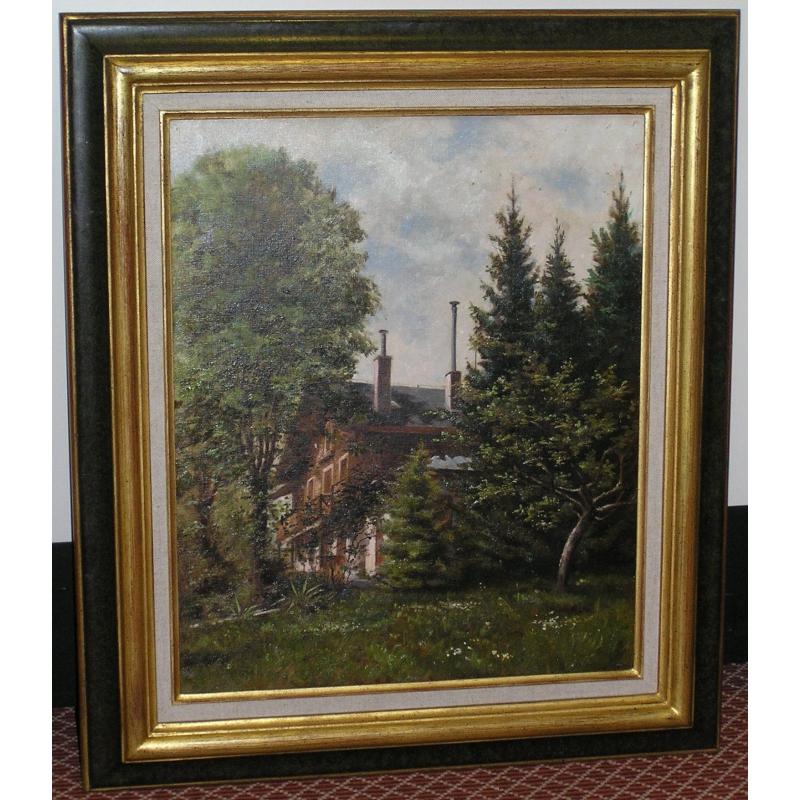 peintures tableau huile sur toile villa moinat sa antiquit s d coration. Black Bedroom Furniture Sets. Home Design Ideas