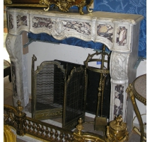 Fireplace Regency, white marble