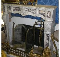 Kamin Régence, aus weißem marmor