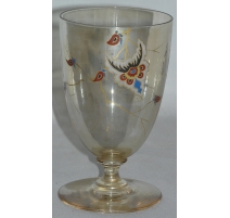 Vase vers 1900 monogrammé, en cristal