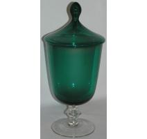 Vase Baccarat, en verre, coloris vert