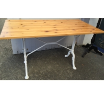 Table de bistro rectangulaire en pin,