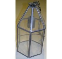 Lanterne vitrail de forme hexagonale,