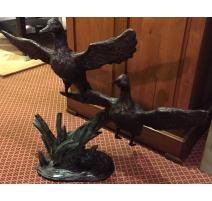 """Bronze """"2 canards à l'envol"""""""