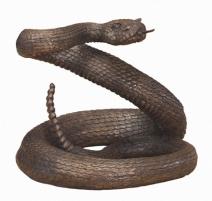 Serpent à sonnette en bronze