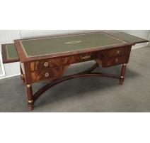 Bureau plat in the Empire style in mahogany