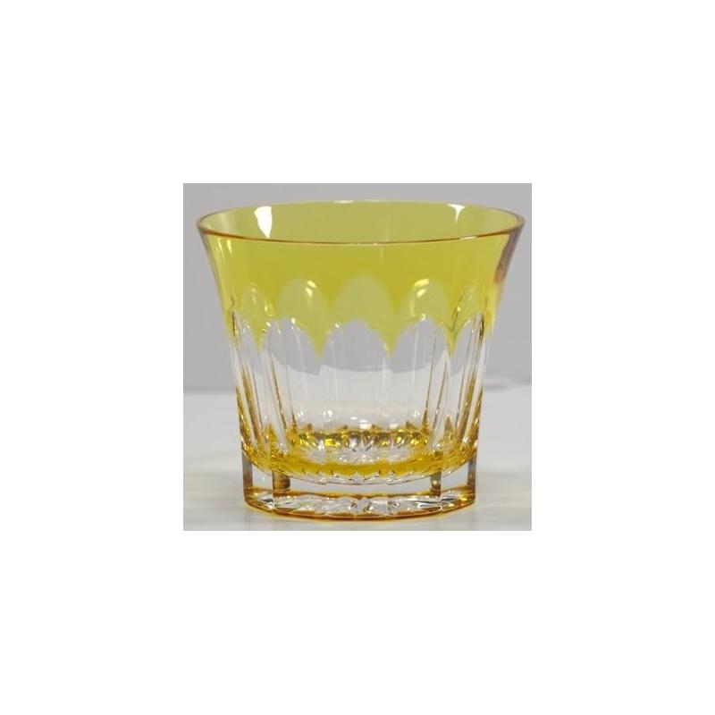verre en cristal ambre grav sur moinat sa antiquit s. Black Bedroom Furniture Sets. Home Design Ideas