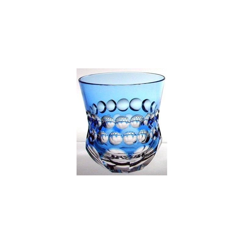 verre en cristal bleu clair grav de sur moinat sa. Black Bedroom Furniture Sets. Home Design Ideas