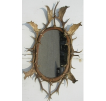 Beveled mirror with horn frame. Brienz.