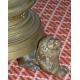 Bougeoir, en bronze. Pied tripode Signé W. POLDERS