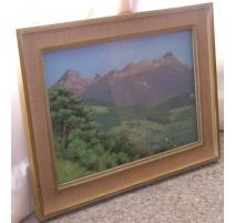 "Pastel ""Mountain Landscape"", BIRBAUM."