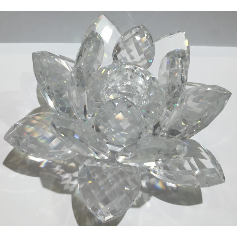 bougeoir en cristal swarovski fleur de sur moinat sa antiquit s d coration. Black Bedroom Furniture Sets. Home Design Ideas