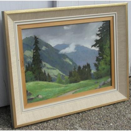 """Tableau """"Paysages et montagnes"""", BIRBAUM."""