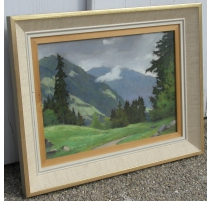 "Painting ""Landscape and Mountains"", BIRBAUM."
