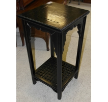 Fifth chinese black lacquered wood