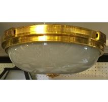 Plafonnier rond en bronze doré