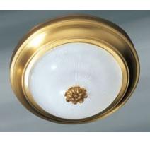 Plafonnier rond en bronze doré vieilli