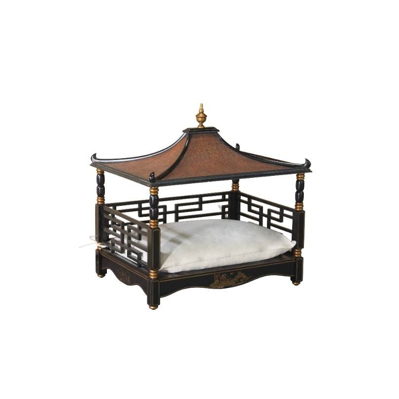 Lit pour chien ou chat style Pagode