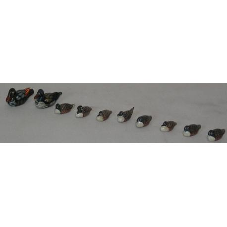 Lot zehn kleine enten aus holz moinat sa antiquit s for Kleine schreibtische aus holz