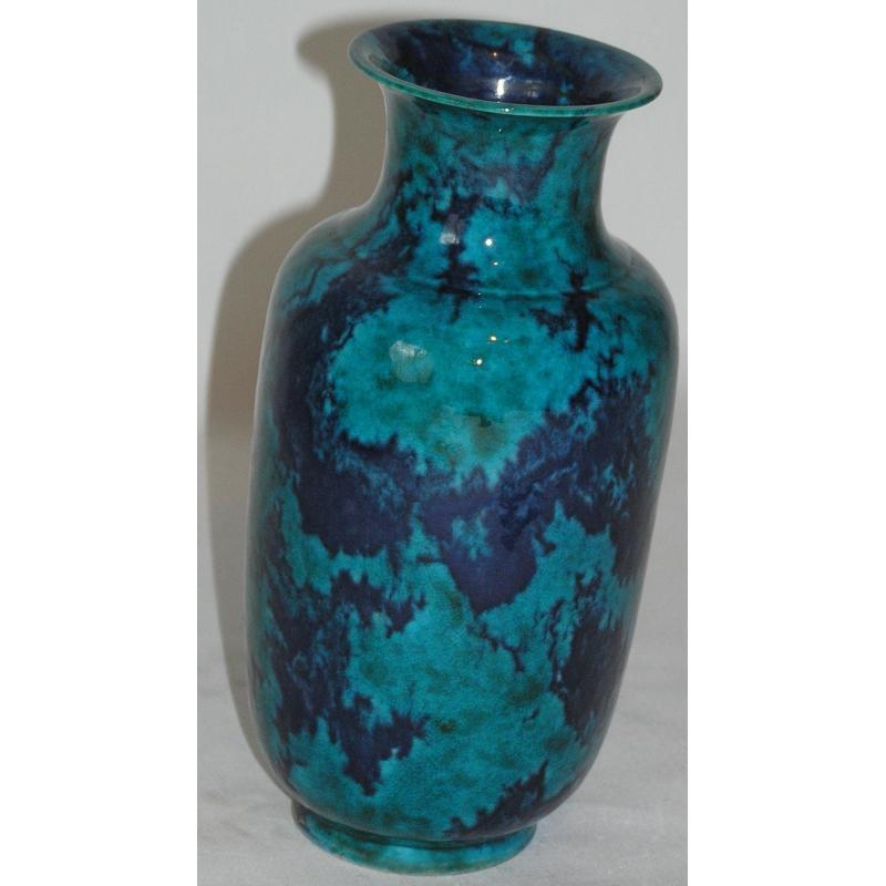 vase en porcelaine bleue marbr sur moinat sa antiquit s d coration. Black Bedroom Furniture Sets. Home Design Ideas