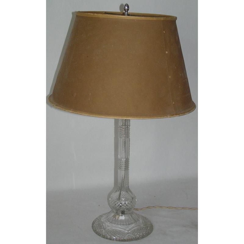 lampe en cristal taill sur moinat sa antiquit s. Black Bedroom Furniture Sets. Home Design Ideas