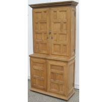 Pair of cabinets to gun cabinets, oak
