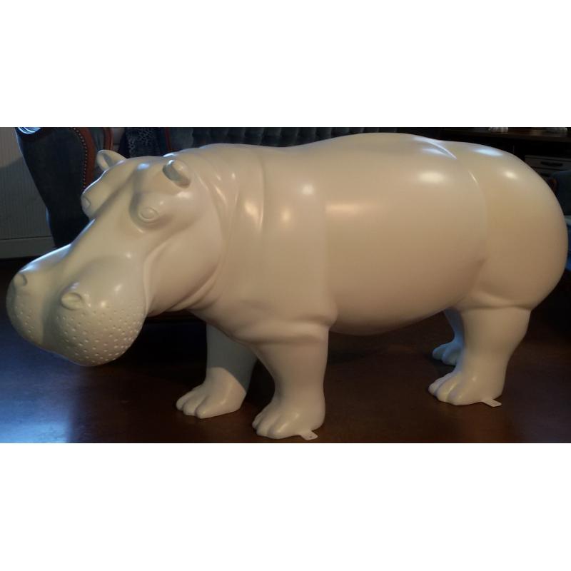 ... Hippopotame En Résine Et Fibre De Verre