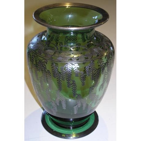 Glas Vase Von Saint Prex Grün Und Moinat Sa Antiquités Décoration