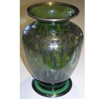 Vase en verre de Saint-Prex vert et