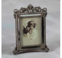 Cadre photo en miroir vieilli, grand