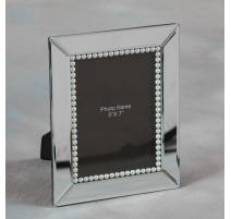 Cadre photo en miroir et perles