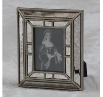 Cadre photo en miroir vieilli
