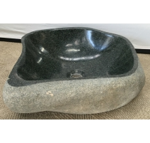Lavabo en pierre naturelle noire
