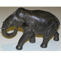"""Sculpture """"Eléphant"""", en bronze. Japon."""