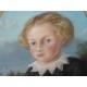 """Pastel """"Enfant"""", signé D'ANDIRAN. Daté 1859."""