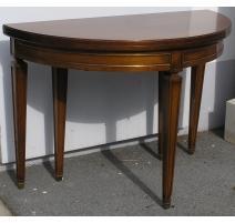Table Directoire demi-lune, en