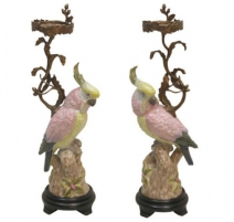 Pair of candlesticks bronze