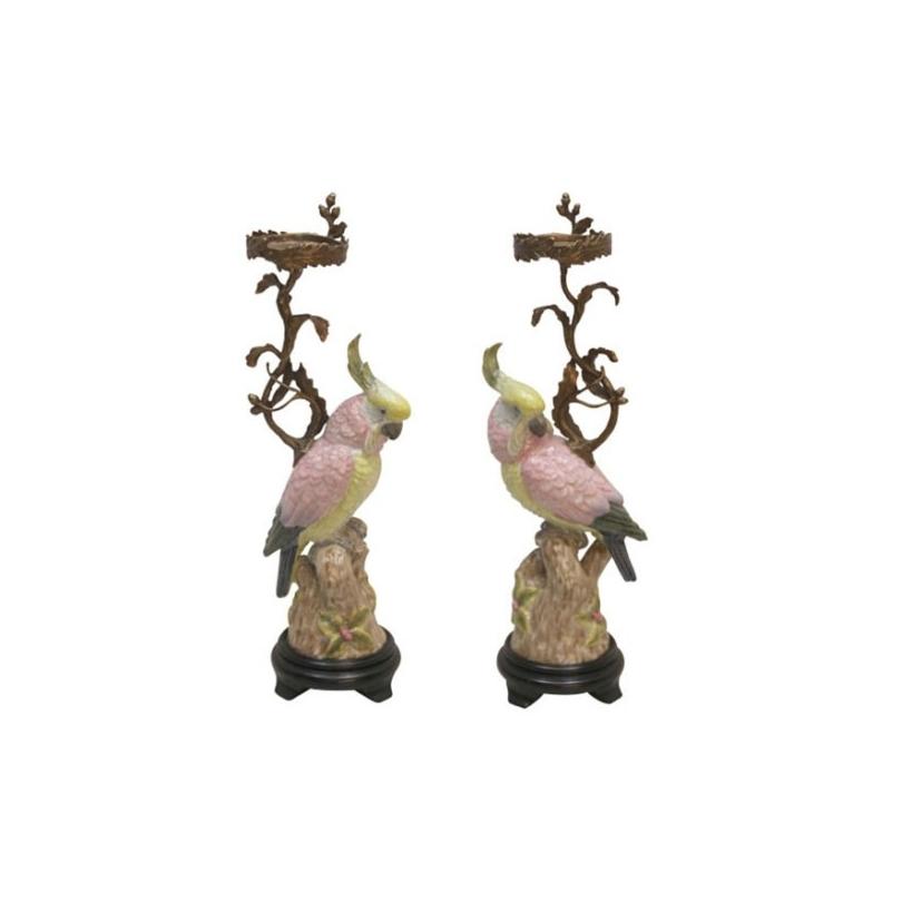 Paire de bougeoirs bronze