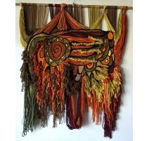 Wandteppich, wolle und Michel BARBAULT