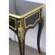 Bureau console Louis XV, en bois noir
